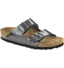 Arizona Leather Metallic Anthracite Soft Footbed : Narrow