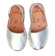 Avarca Kids Sandals Silver Leather