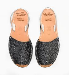 Avarca Youths Sandals Gunmetal Glitter