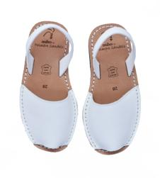 Avarca Youths Sandals White Leather