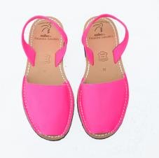 Avarcas Sandals Neon Pink Leather