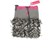 Bag Faux Fur grey Kiezel-tje