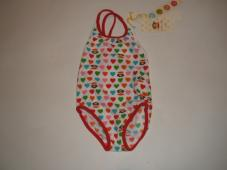 Bathing Suit Hearts White