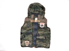 Bodywarmer Worked Out Hooded Down Camo 34530