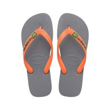 Brasil Logo Steel Grey/Neon Orange