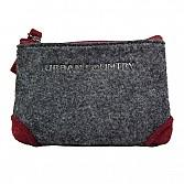 Coin Purse Zip Top Felt Burgundy UC008030