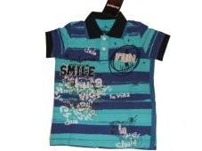 Desigual Boys Polo Shirt Tennant Turquoise