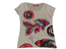Desigual Girls T-Shirt Anacardium White