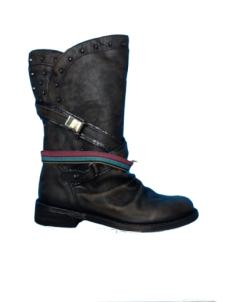 Felmini Ladies Leather Boot Slouch with straps Targoff & Fantasy Asfa