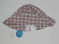 Hat White/Brown Check