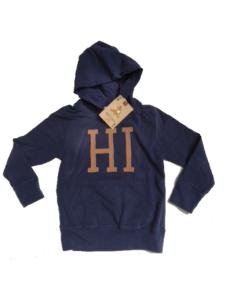 Hooded Peach T-Shirt with patches Navy 50509