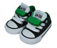 Infant Chuck Taylor Double Tongue Ox Black/Greeen/White
