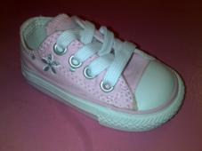 Infant Chuck Taylor Print Ox pink/White