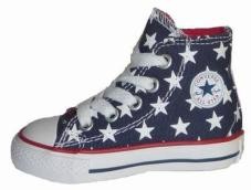Infant Chuck Taylor Repeat Stars Hi Dark Denim/White