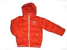 Jacket Basic Down with hood Red 10500