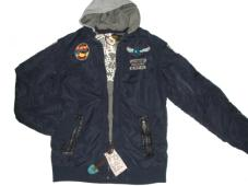 Jacket Navy With Grey Hood 10507-58