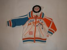 Jacket Zip through Off white/Orange/blue RW541282