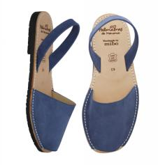 Mens Avarca Sandals Dusky Blue Nubuk