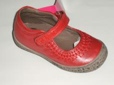 Mildred Red Mary Jane Velcro Fastening