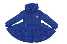 Mim 600 Jas, Coat Blue Rose Print