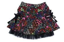 Mim 649 Rok Skirt Black Multi AA0135