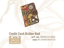 OES0115-2002 Credit Card Holder Red