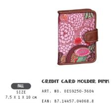 OES9250-3604 Credit Card Holder Pink