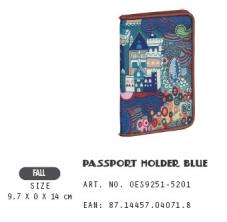 OES9251-5201 Passport Holder Blue