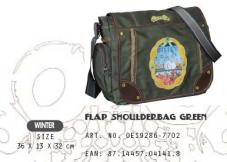 OES9286-7702 Flap Shoulderbag Green