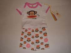 Pajamas 2 Pcs White/Pink