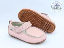 Rome Pink T-Bar Infant Leather Loafer