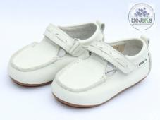 Rome White T-Bar Infant Leather Loafer
