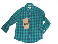 Shirt Colourful Check With Bow Tie 20509