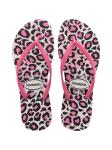 Slim Animals White/Rose Leopard