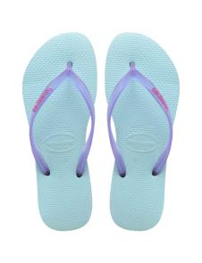Slim Logo Pop-Up Ice Blue Havaianas