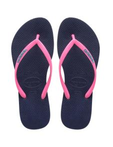 Slim Logo Pop-Up Navy Blue/Pink Havaianas