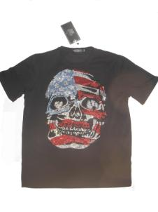 T-Shirt Black US SKull