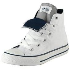 Youth Chuck Taylor Double Tongue Hi White/Navy/ Grey